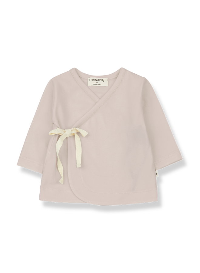 1+ in the family - Babette - Newborn Shirt - Nude