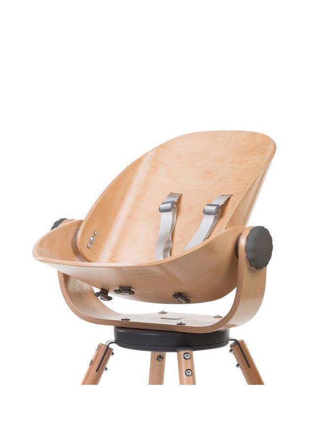 Childhome - Evolu - Newborn Seat - Hout /  Antracite - 2 + ONE.80°