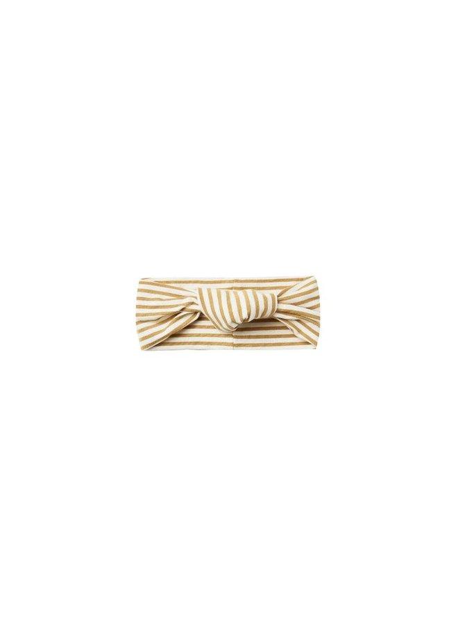 Quincy Mae - Baby Turban - Gold-Stripe