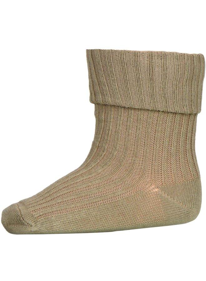 Cotton Rib Baby Socks - 3009 - Safari Green