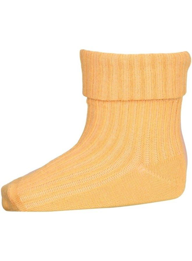 Cotton Rib Baby Socks - 4098 - Ochre