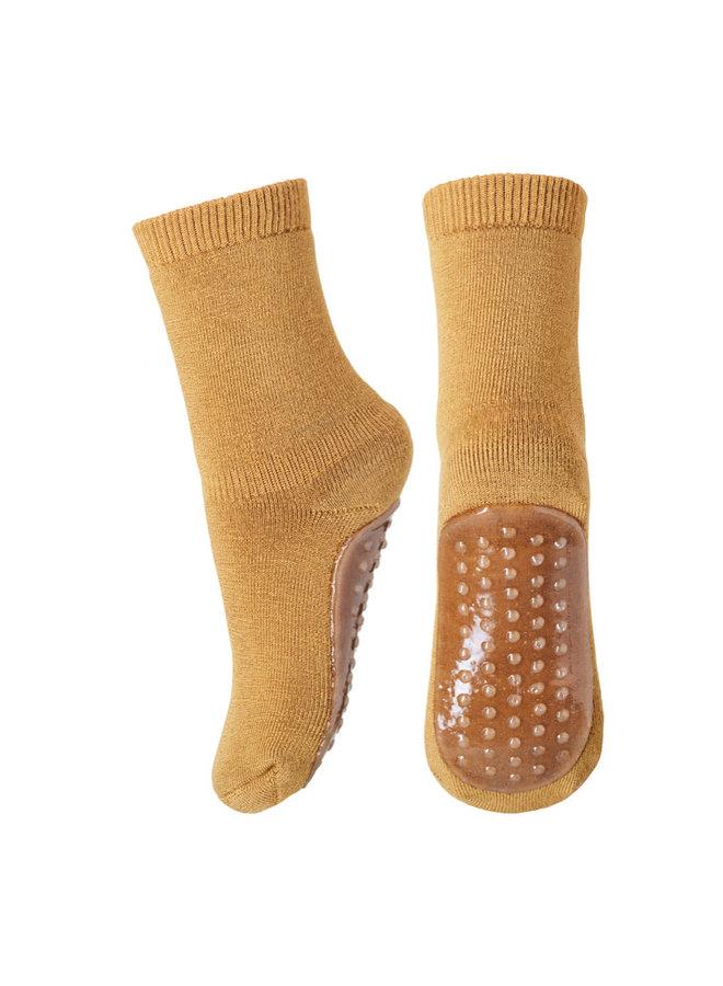 Cotton Socks With Anti-Slip - 4155 - Apple Cinnamon