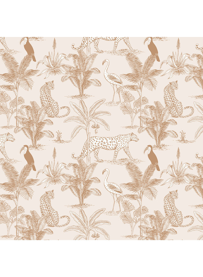 May and Fay - Behang - Jungle Beige
