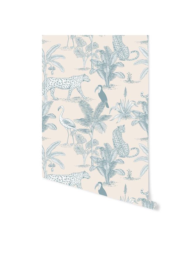 May and Fay - Behang - Jungle Blue