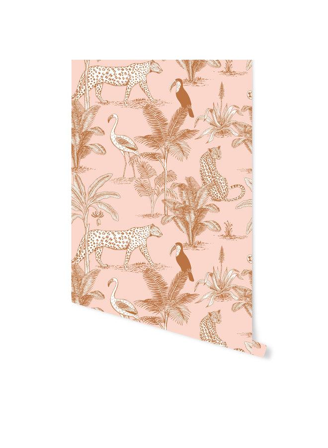 Behang - Jungle Blush
