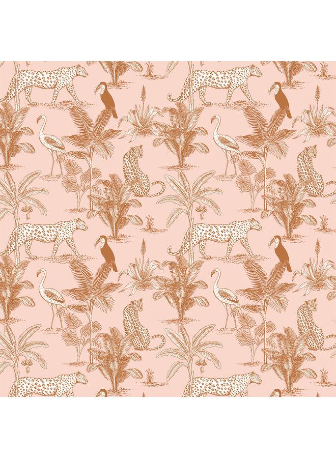 May and Fay - Behang - Jungle Blush