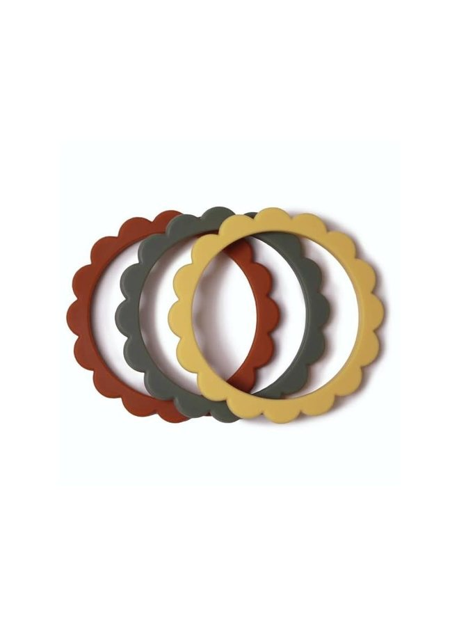 Flower Bracelet 3 pack - Clay/Dried thyme/Sunshine