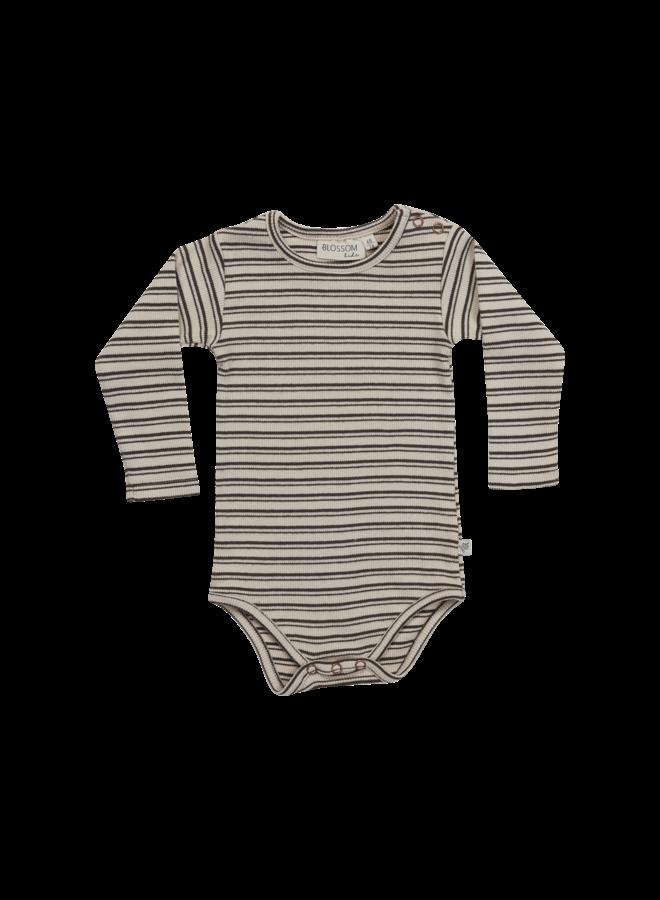 Blossom Kids- Body long sleeve  - Stripes - Cinnamon
