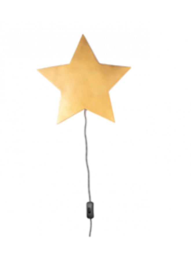Kids Depot - Barbe Wandlamp Ster - Goud