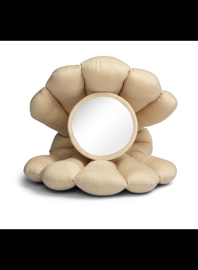Baby mirror toy beige