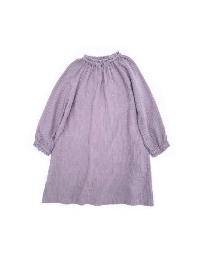 Crinkle Wide Dress - Lavender Crinkle