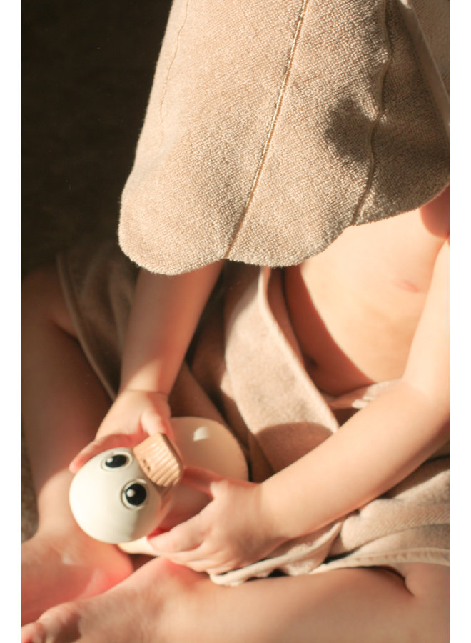 That's Mine - Baby Hooded Towel shell dusty rose