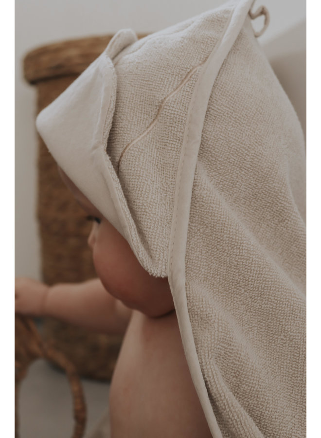 Baby Hooded Towel shell dusty rose