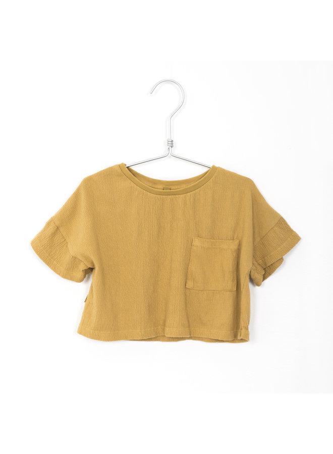 Bambula Crop Tee Solid - Sun Yellow