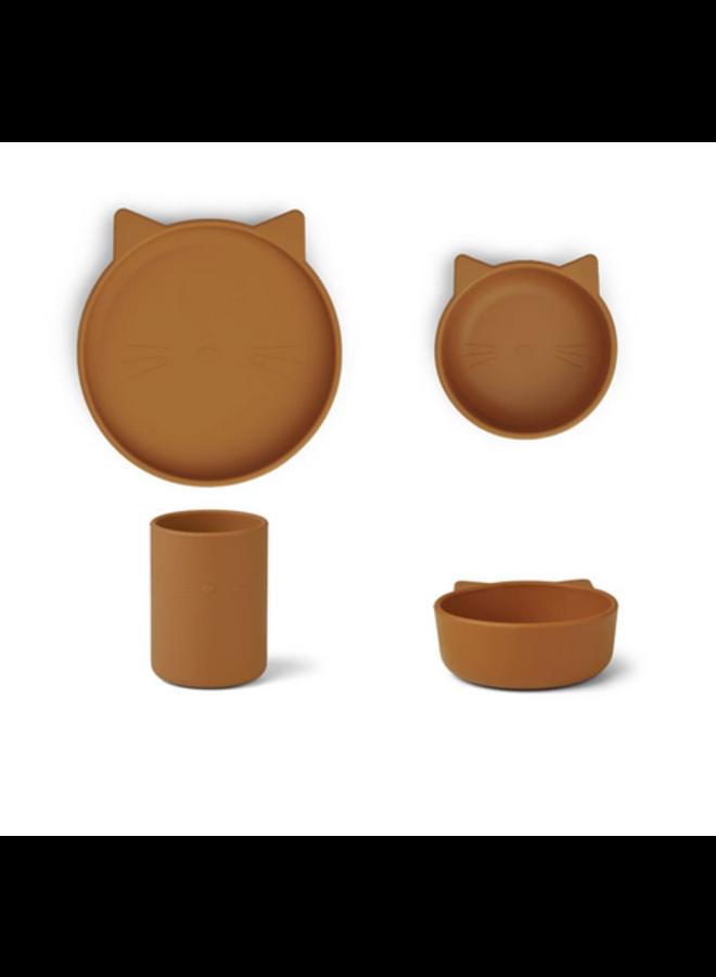 Cyrus Silicone Junior Set - Cat Mustard