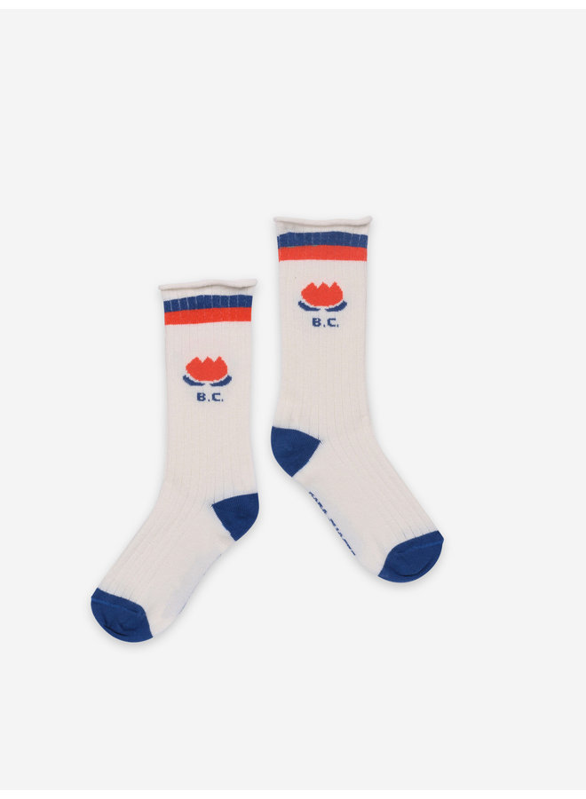 Bobo Choses - Chocolate Flower Long Socks