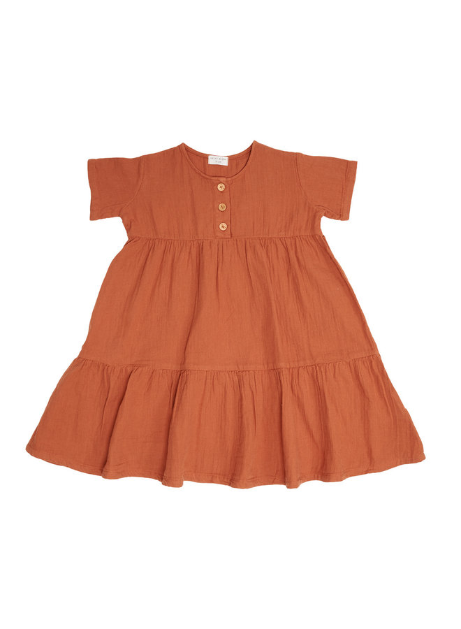 Billie Button Dress - Sierra