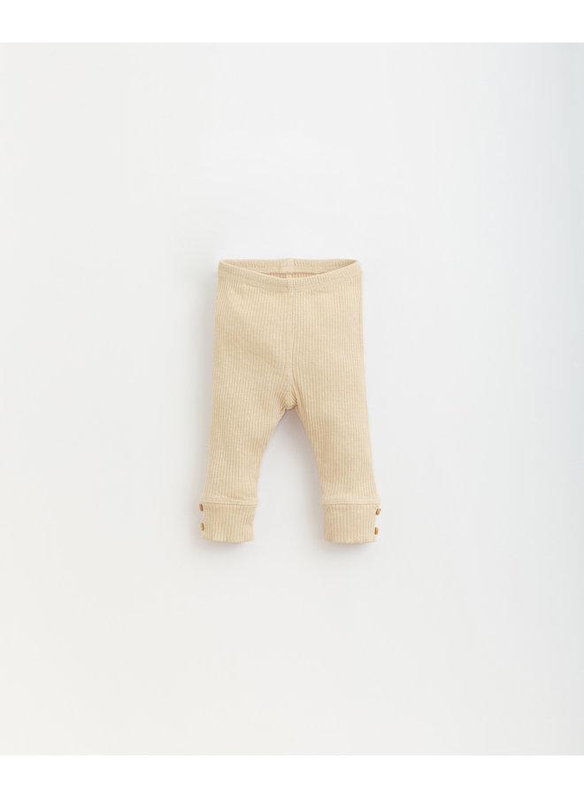 Flamé Rib Leggings - P0059 - Mushroom