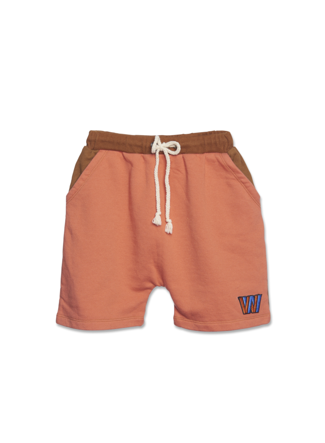 Color Block Shorts - Copper