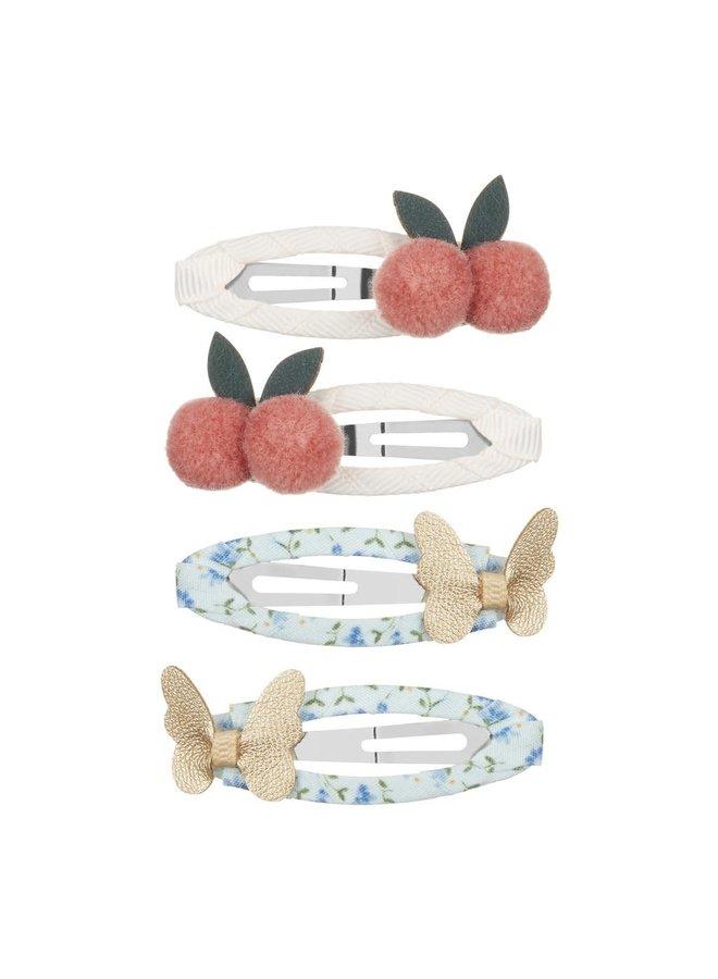 Cherries and butterflies clic clacs