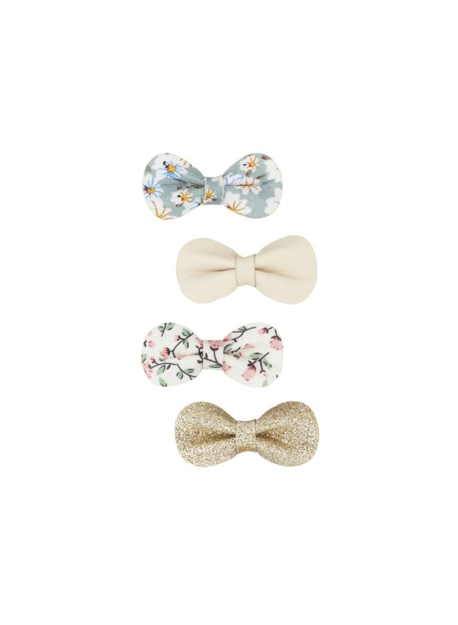 Floral gracie bow clips