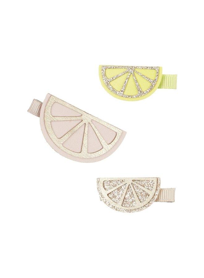 Citrus slice clips