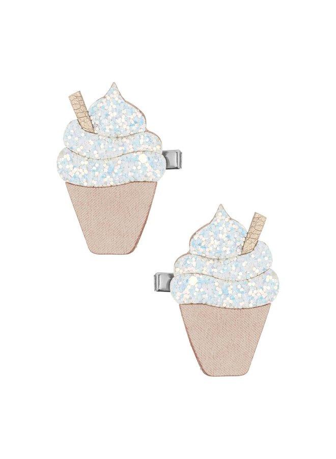 Glitter ice cream clips