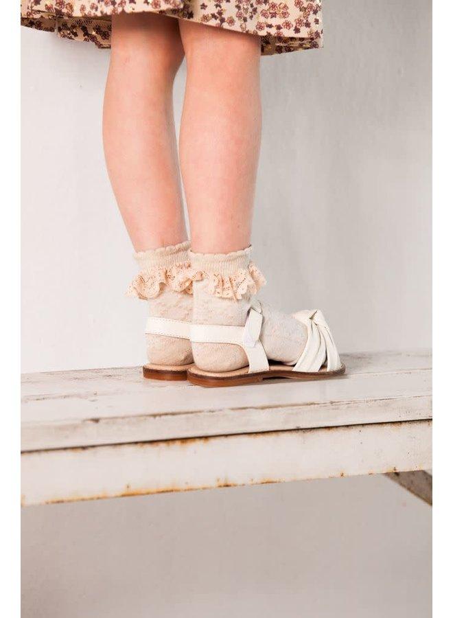 House of Jamie - Ankle Socks Pelerine - Oatmeal & Lace