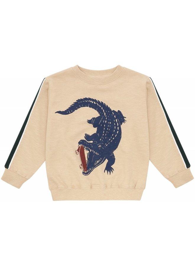 Baptiste - Sweatshirt - Beige - Crocoskate
