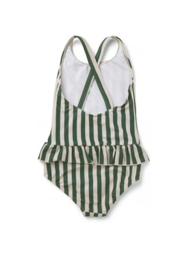 Liewood - Amara Swimsuit - Stripe - Garden Green/Sandy