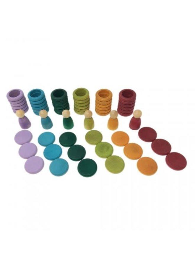 15-102-B Nins, rins & coins - No Basic colours