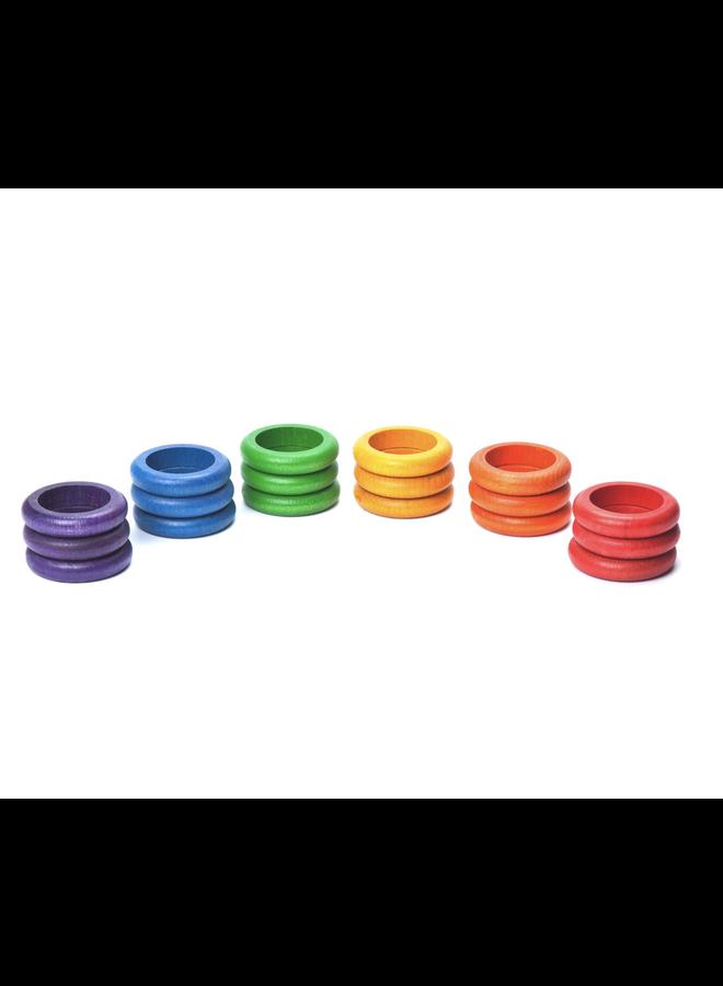 15-115 18 x rings (6 colors)