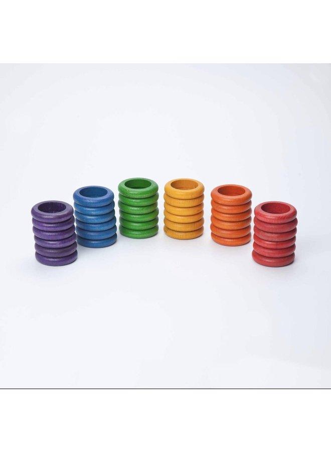 15-116 36 x rings (6 colors)