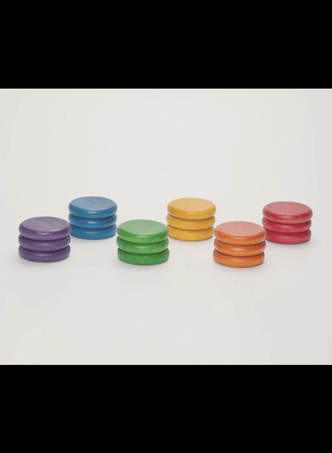 15-117 18 x coins (6 colors)