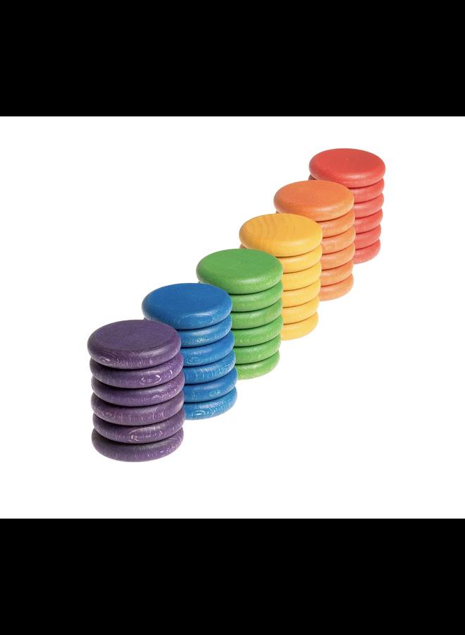15-118 36 x coins (6 colors)