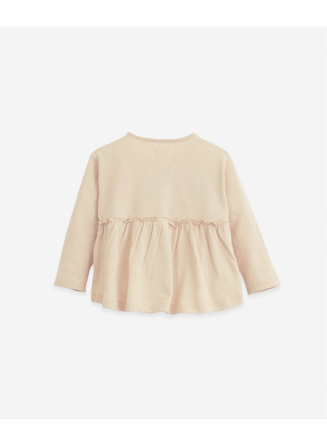 Play Up - Cardigan in organic cotton with a frill - 10903