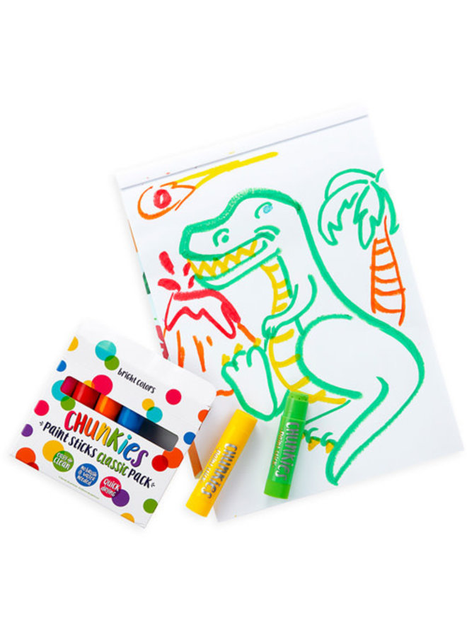Ooly - Chunky Paint Sticks - Classic Pack