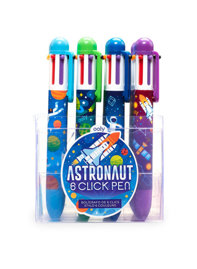 6-kleurenpen 'Astronauts'