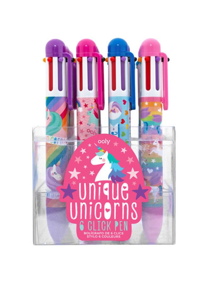 6-kleurenpen 'Unicorn'