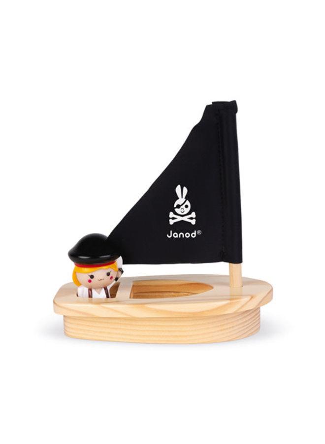 Janod - Badspeelgoed - Kapitein Melo & Boot
