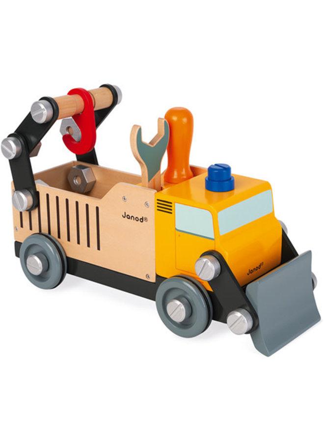 Janod - Brico'kids - Vrachtwagen wegwerker