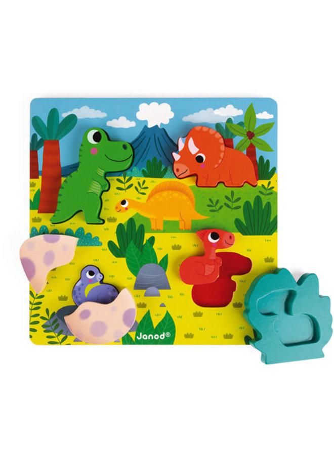 Chunky Puzzel - Dino verstoppertje