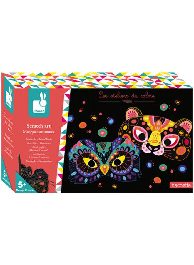 Atelier - Kraskaarten dieren maskers