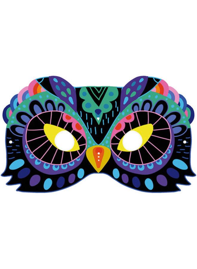 Janod - Atelier - Kraskaarten dieren maskers