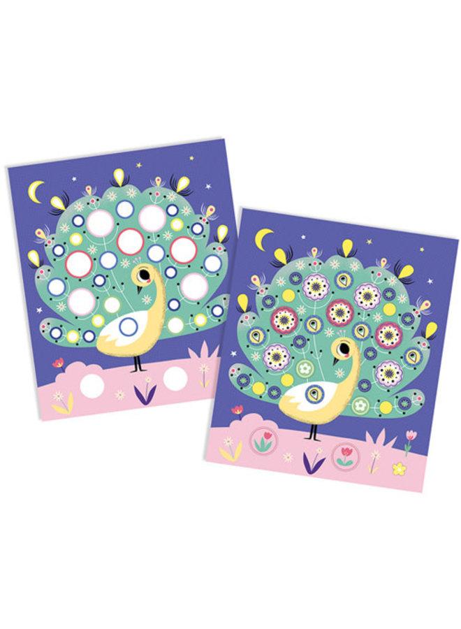 Janod - Atelier - Foam Stickers duizend bloemen