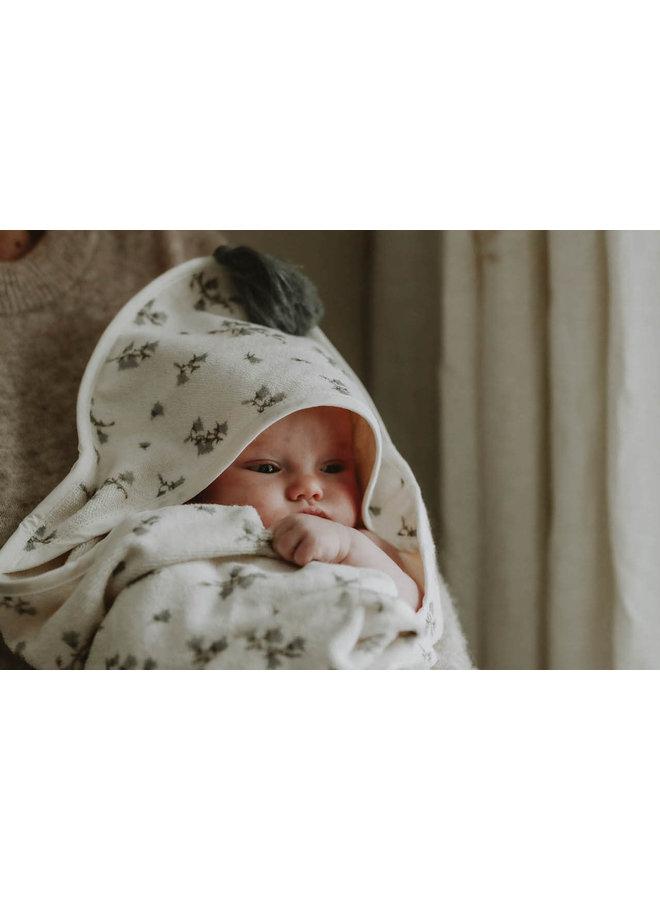 Garbo & Friends - Baby Hooded Towel Bluebell
