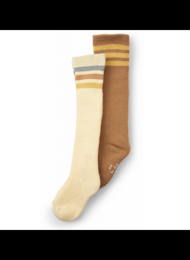 Konges Sløjd - 2 Pack Long Socks - Breen Lemon Sorbet
