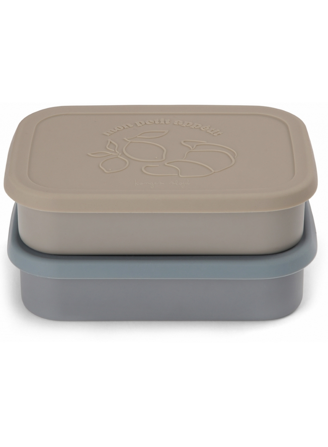 2 Pack Food Boxes Lid Square - Blue