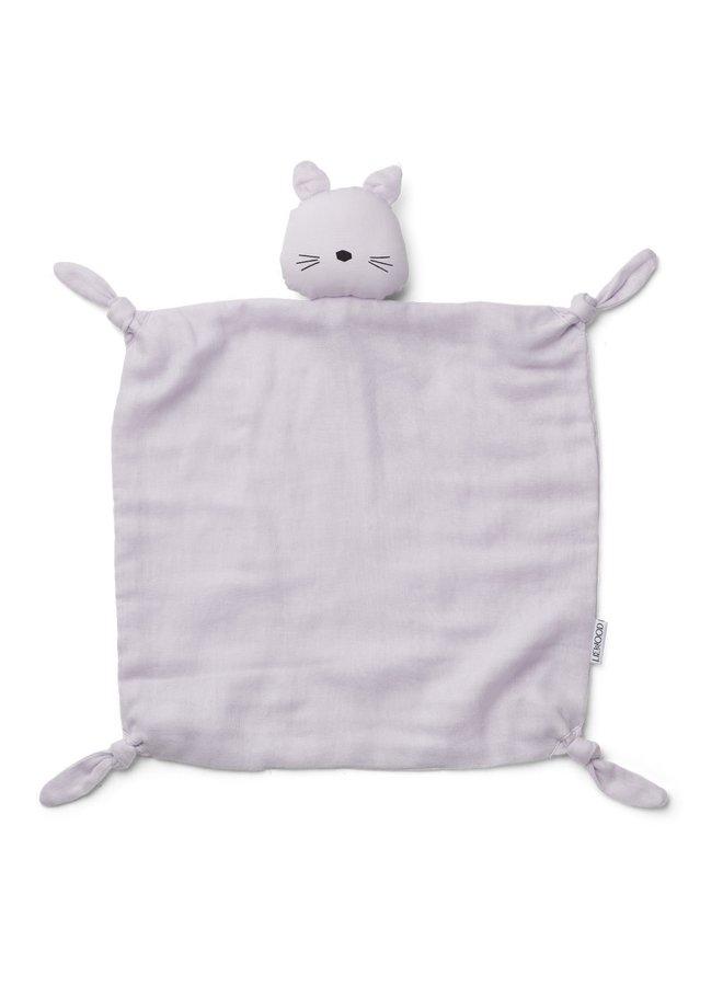 Liewood - Agnete - Cuddle Cloth - Cat Light Lavender