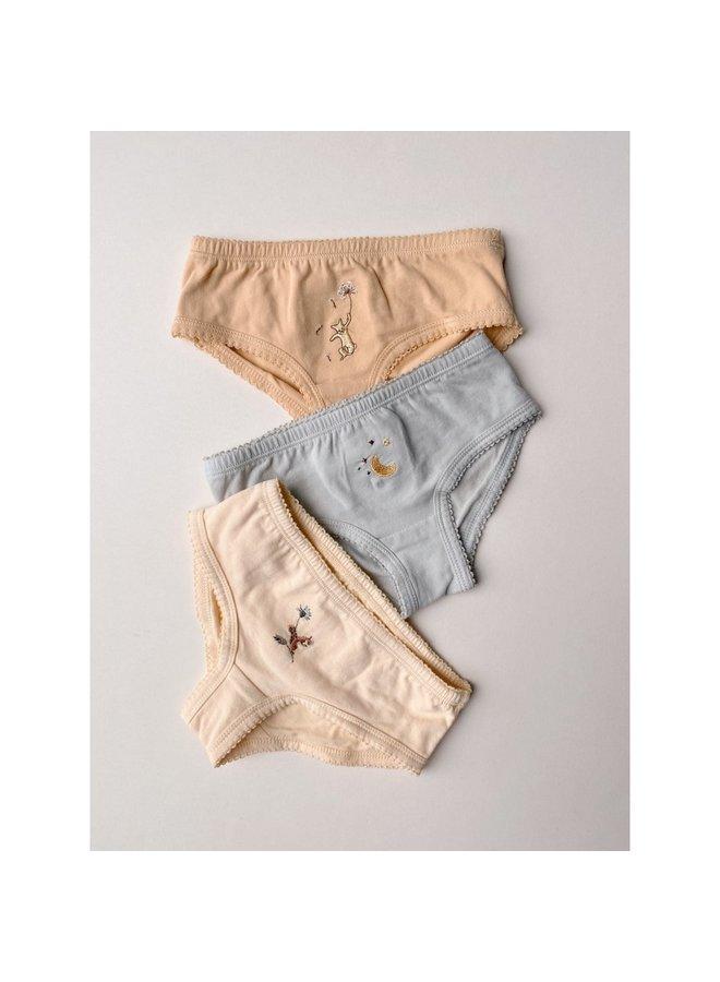 Konges Sløjd - 3 Pack Cue Underpants - Apricot Mint Sorbet